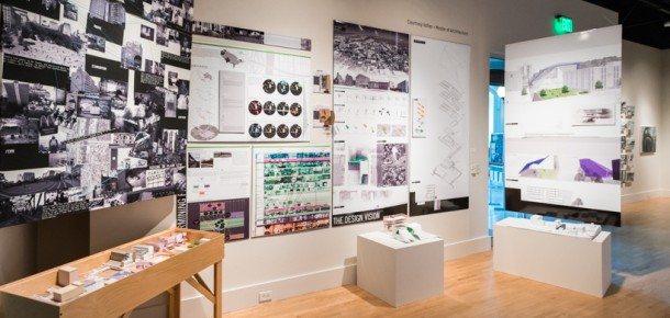 A display of architecture student work