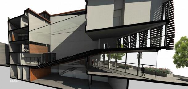 Architectural rendering of a condominium
