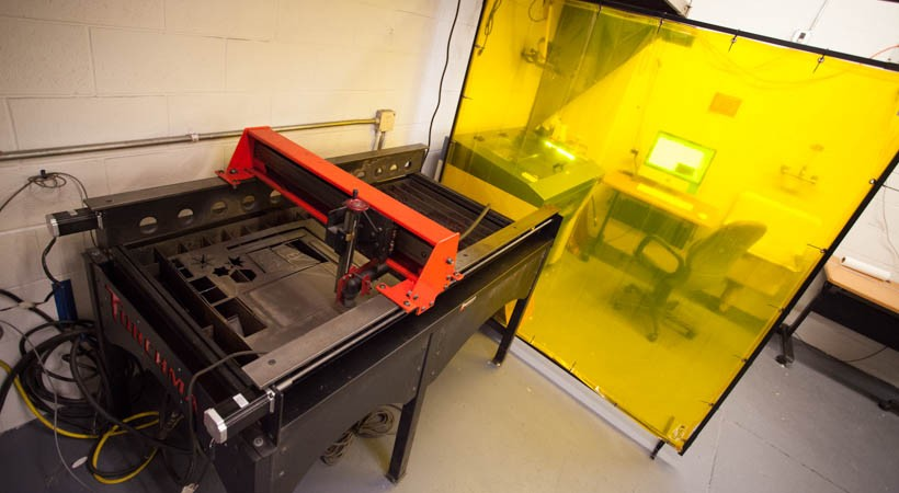 A large-format laser cutter