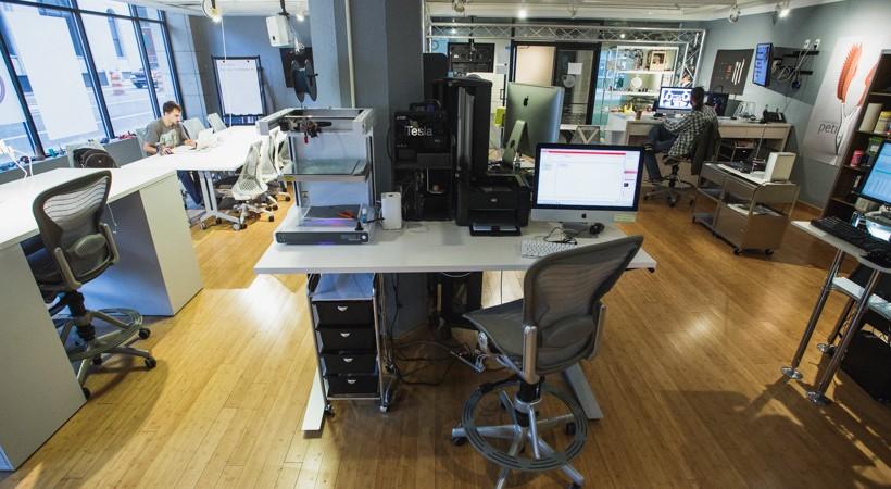 An assortment of high tech printing equipment