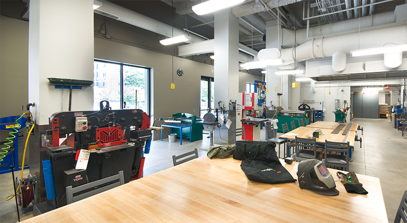 A room full of metal fabrication tools