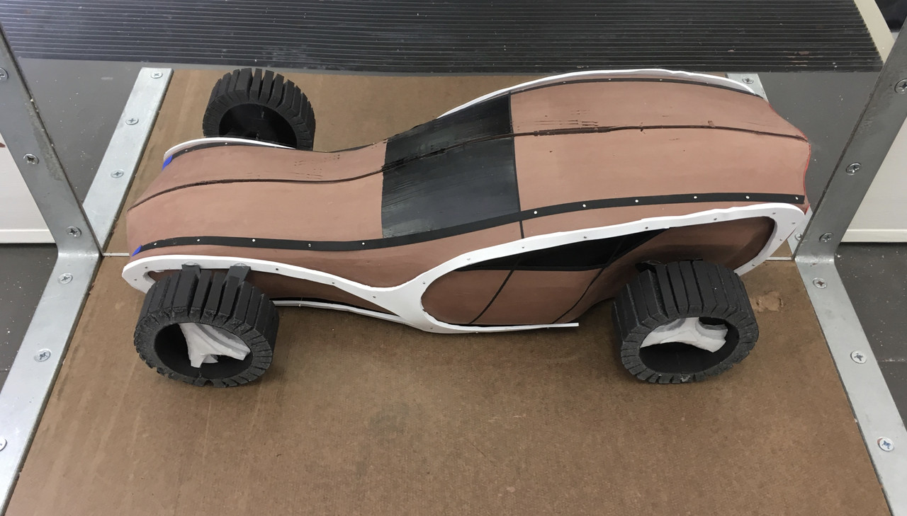 Clay model of a concept car