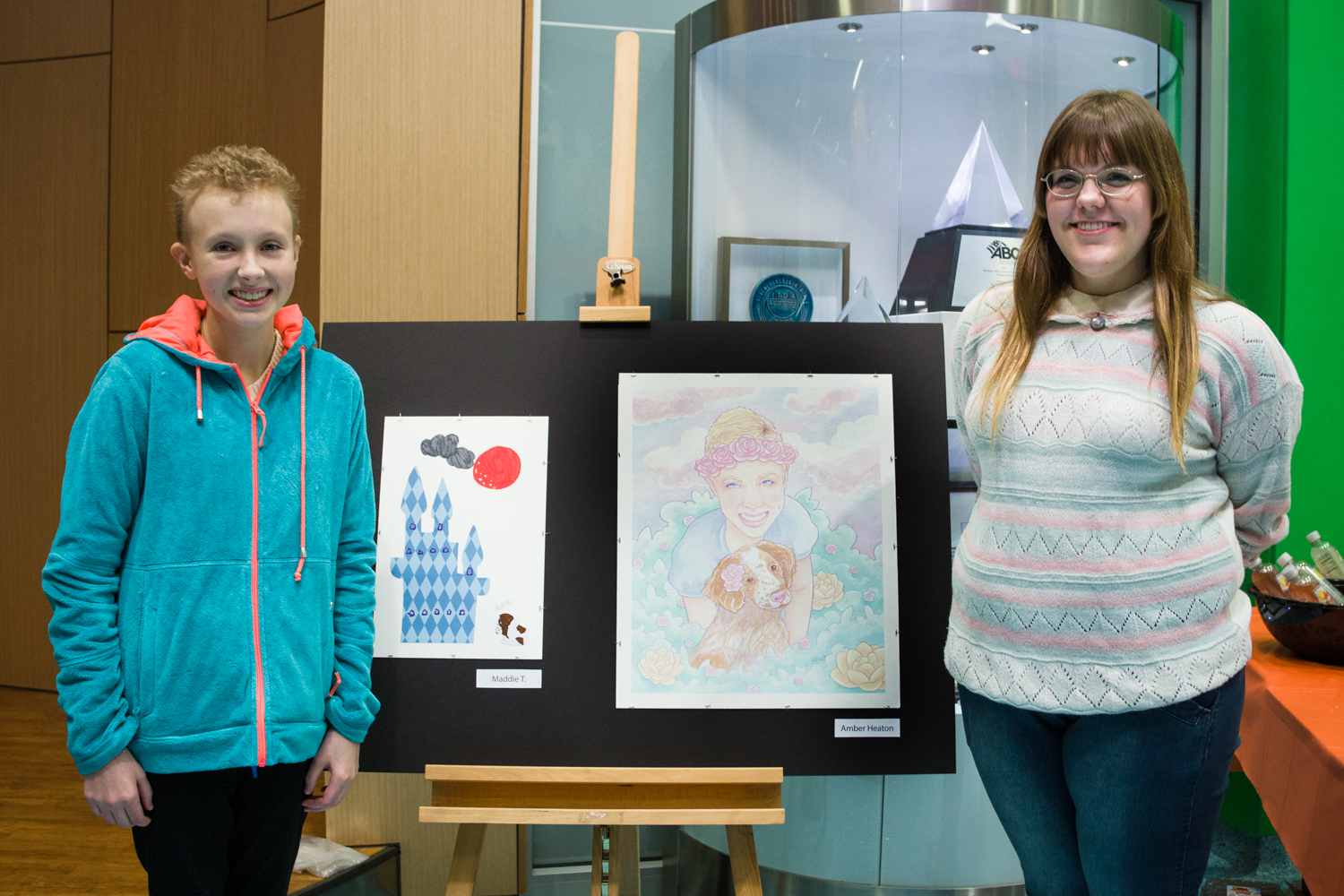 KCAD student Amber Heaton and Maddie, a patient at DeVos Children's Hospital