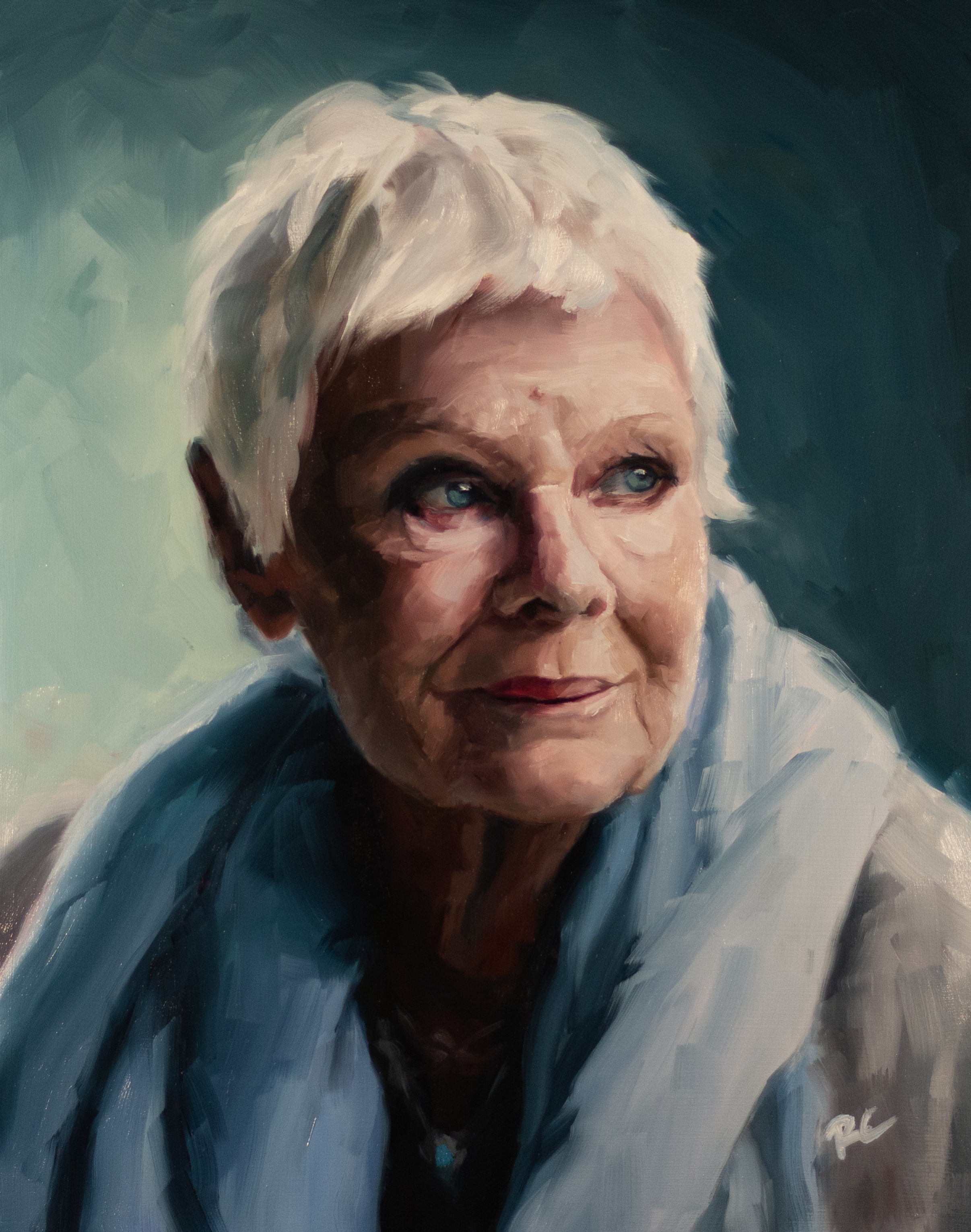 Painting of an old woman