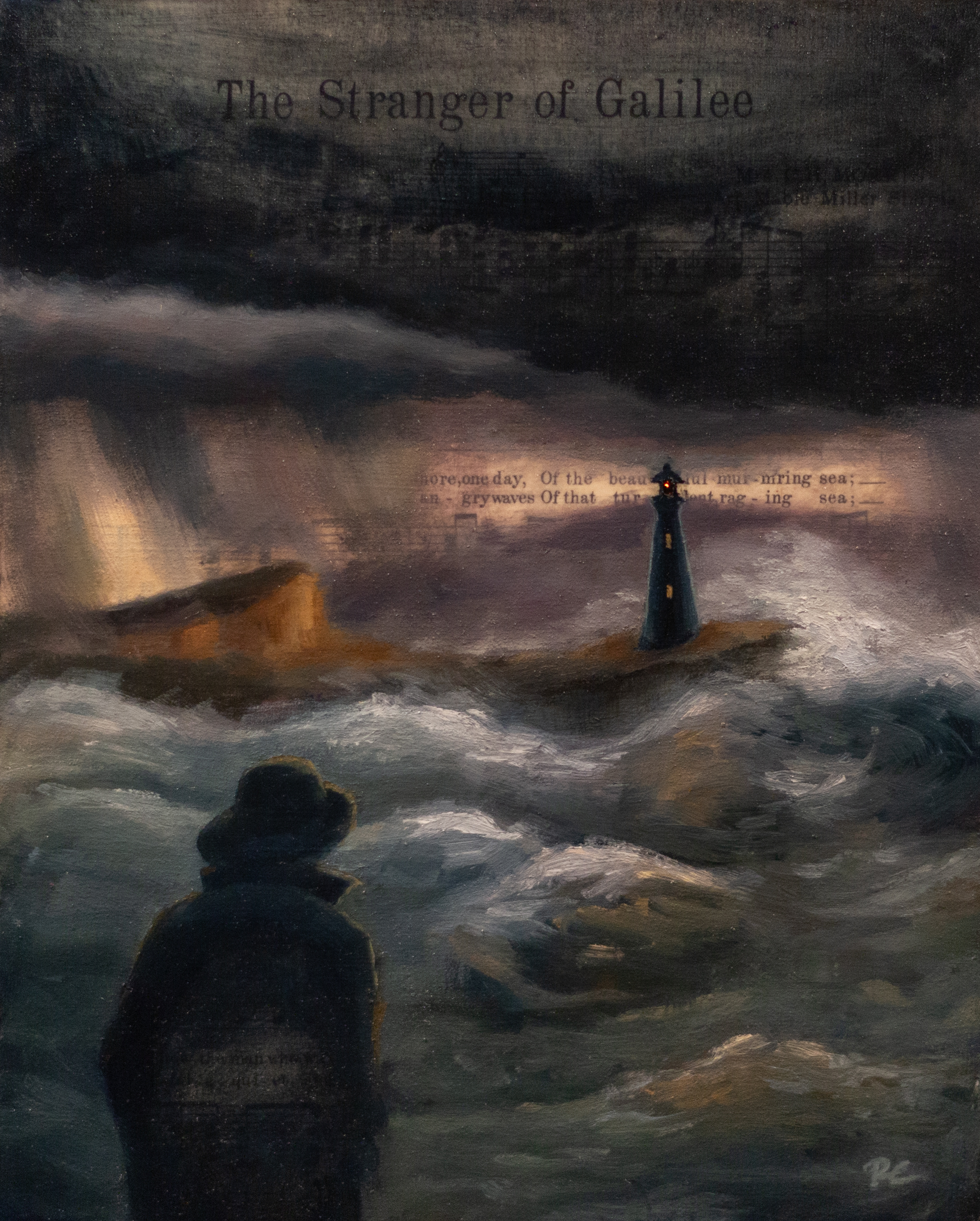 image of man looking out at a lighthouse