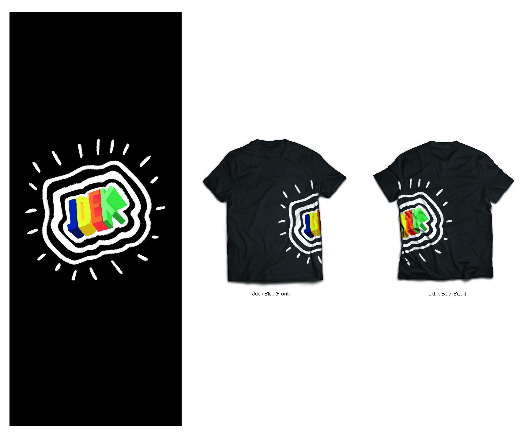 Chalk-inspired t-shirt logo design