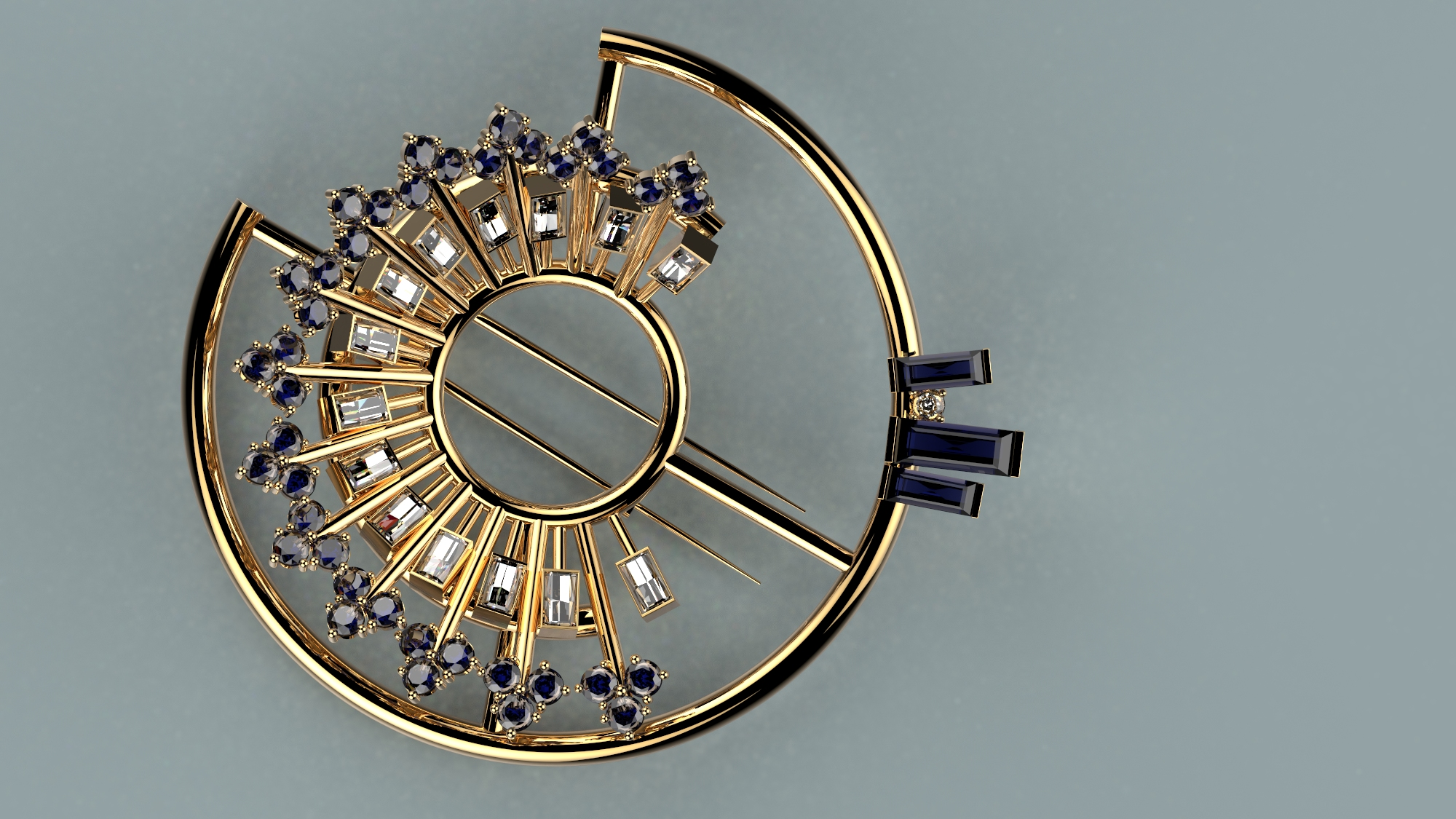 Brooch designed by Ainslie McMaster