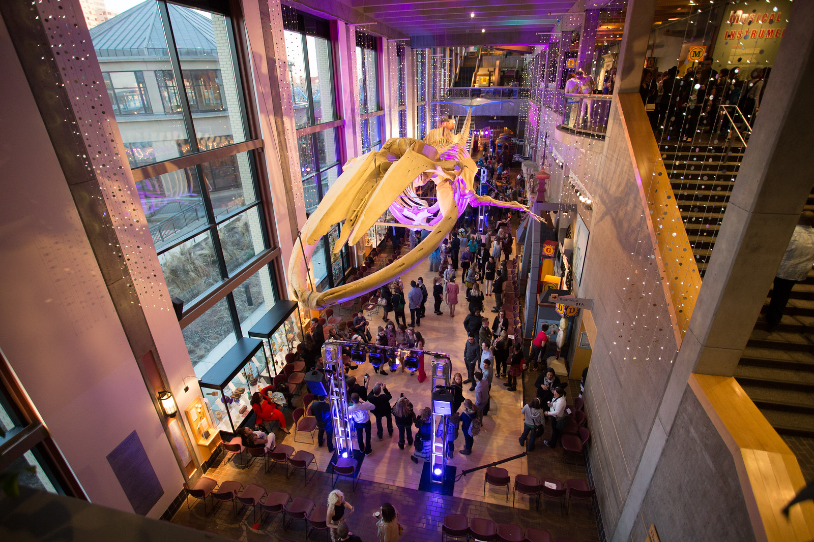 The Grand Rapids Public Museum decked out for Bodies of Art 2015