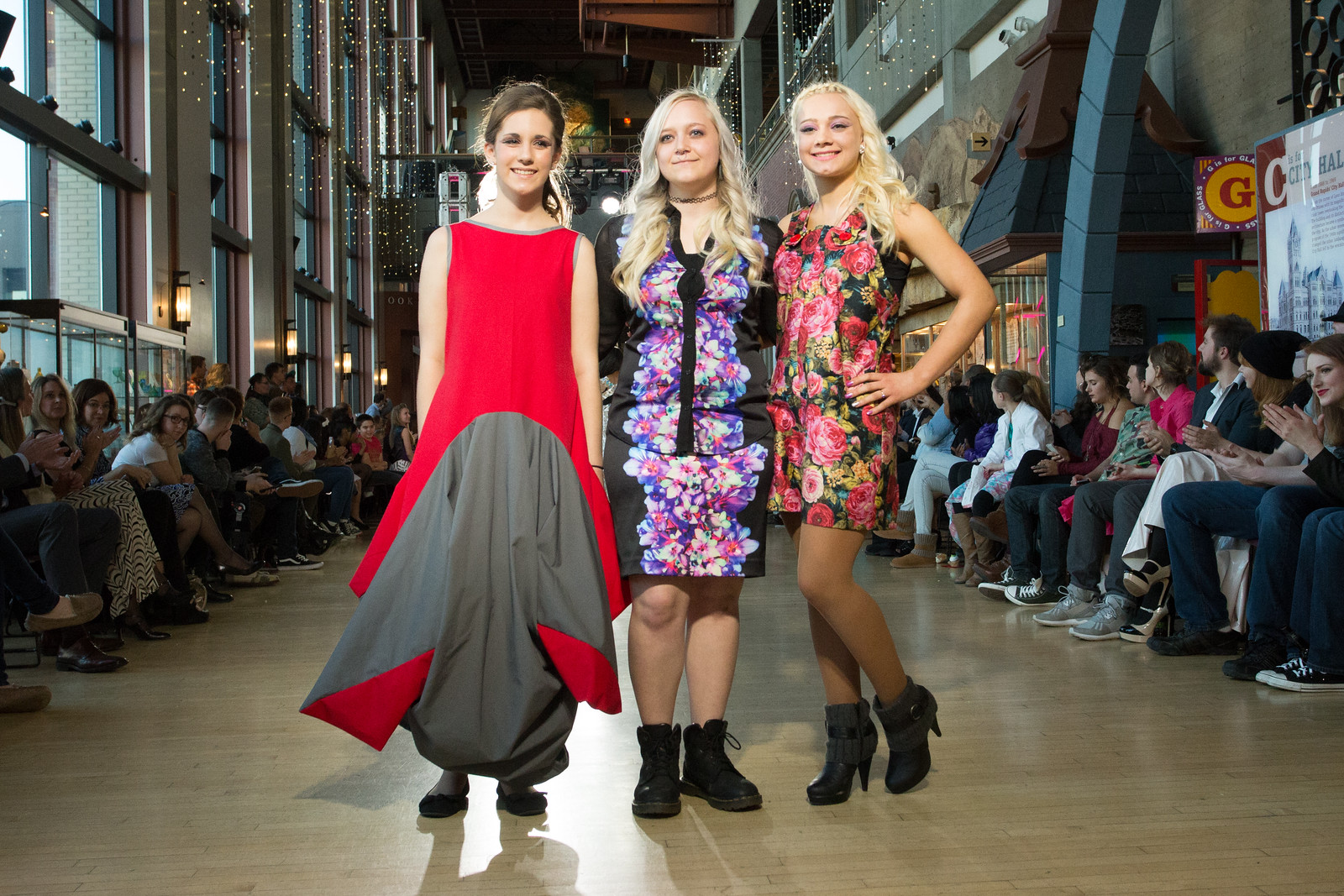 Models sporting more KCAD student-designed garments