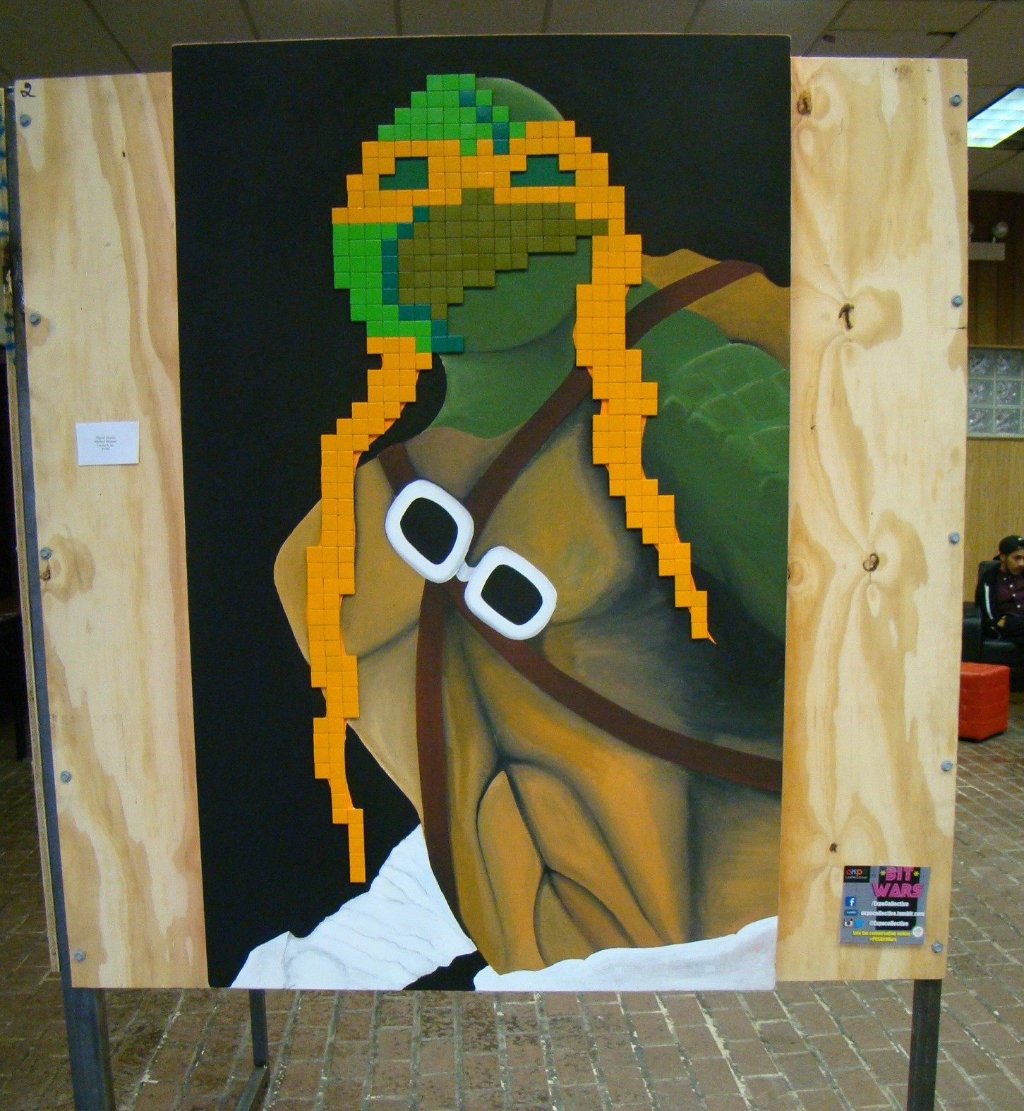 "Work from ""Bit Wars: A Tribute to 8-bit and 16-bit Videogaming�"