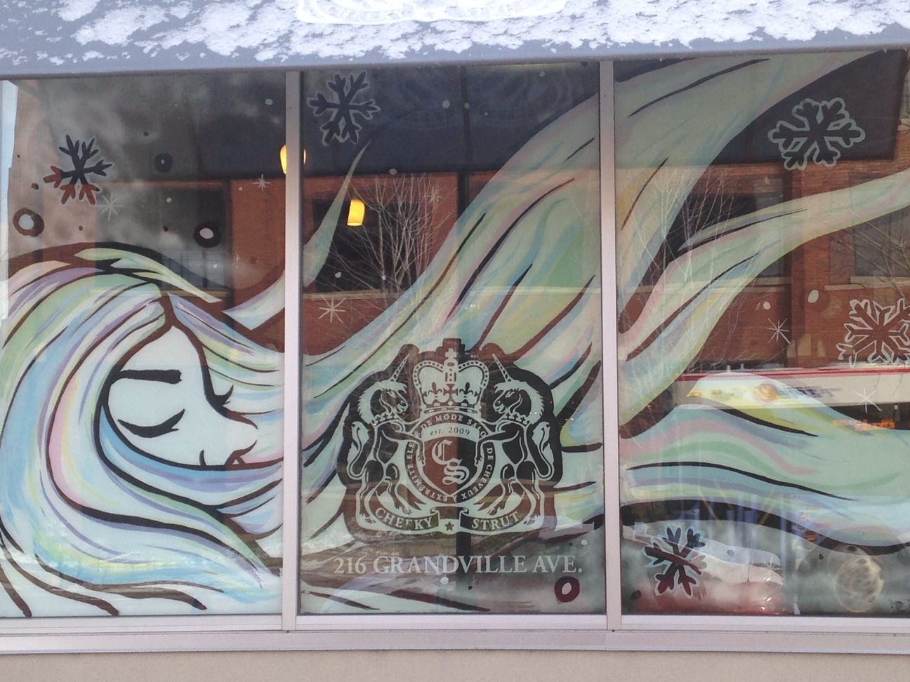 KCAD student design at Cheeky Strut Salon and Spa