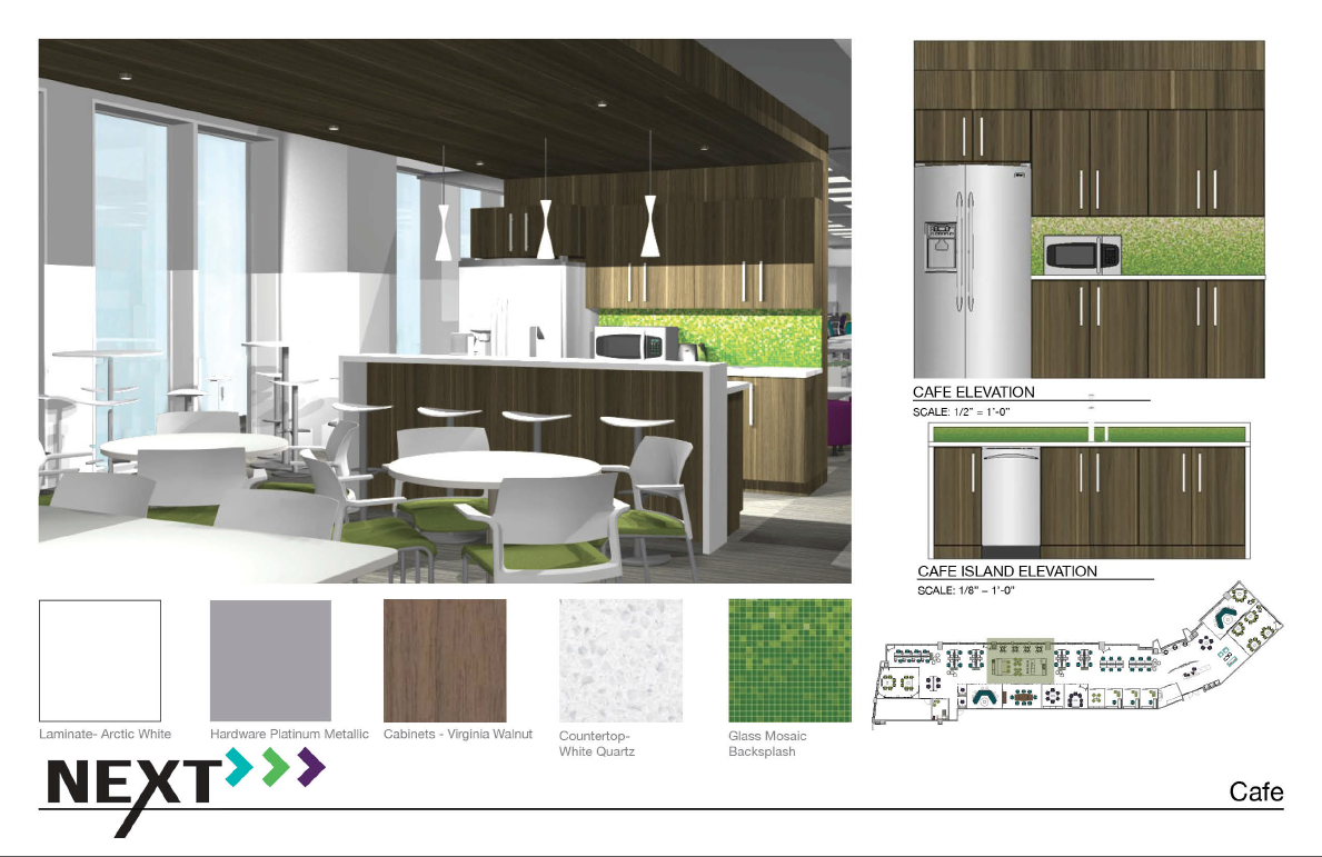 Rendering by Courtney Wierzbicki for the Steelcase NEXT Student Design Competition