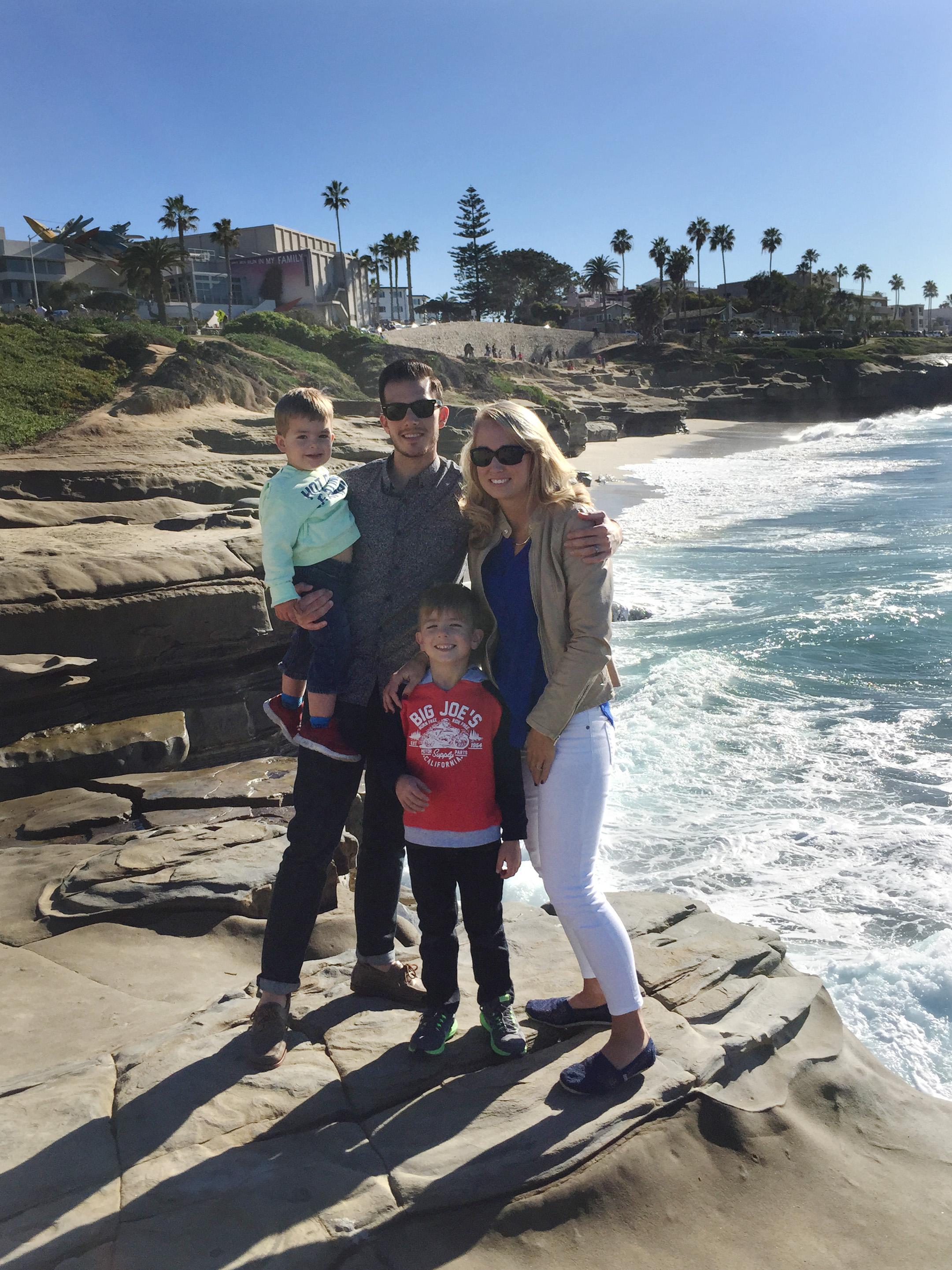 alum Matt Fouty and his family