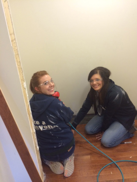 Interior Design students volunteer at Habitat for Humanity house