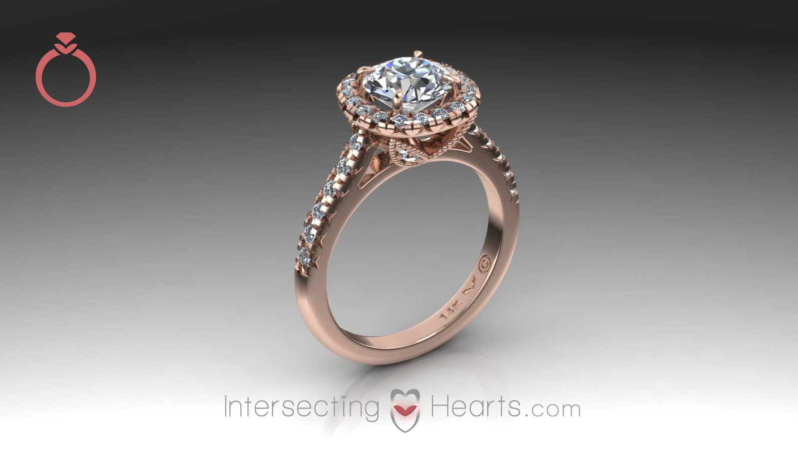 ring from the Intersecting Hearts collection