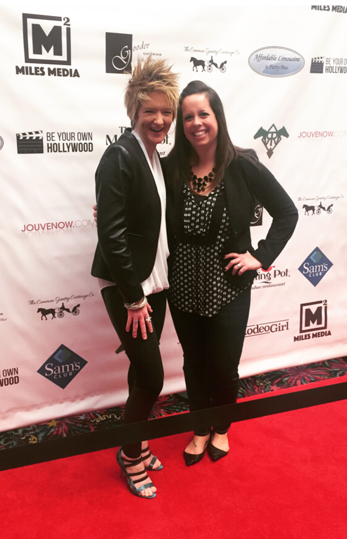 Alum Jen Horling on the red carpet