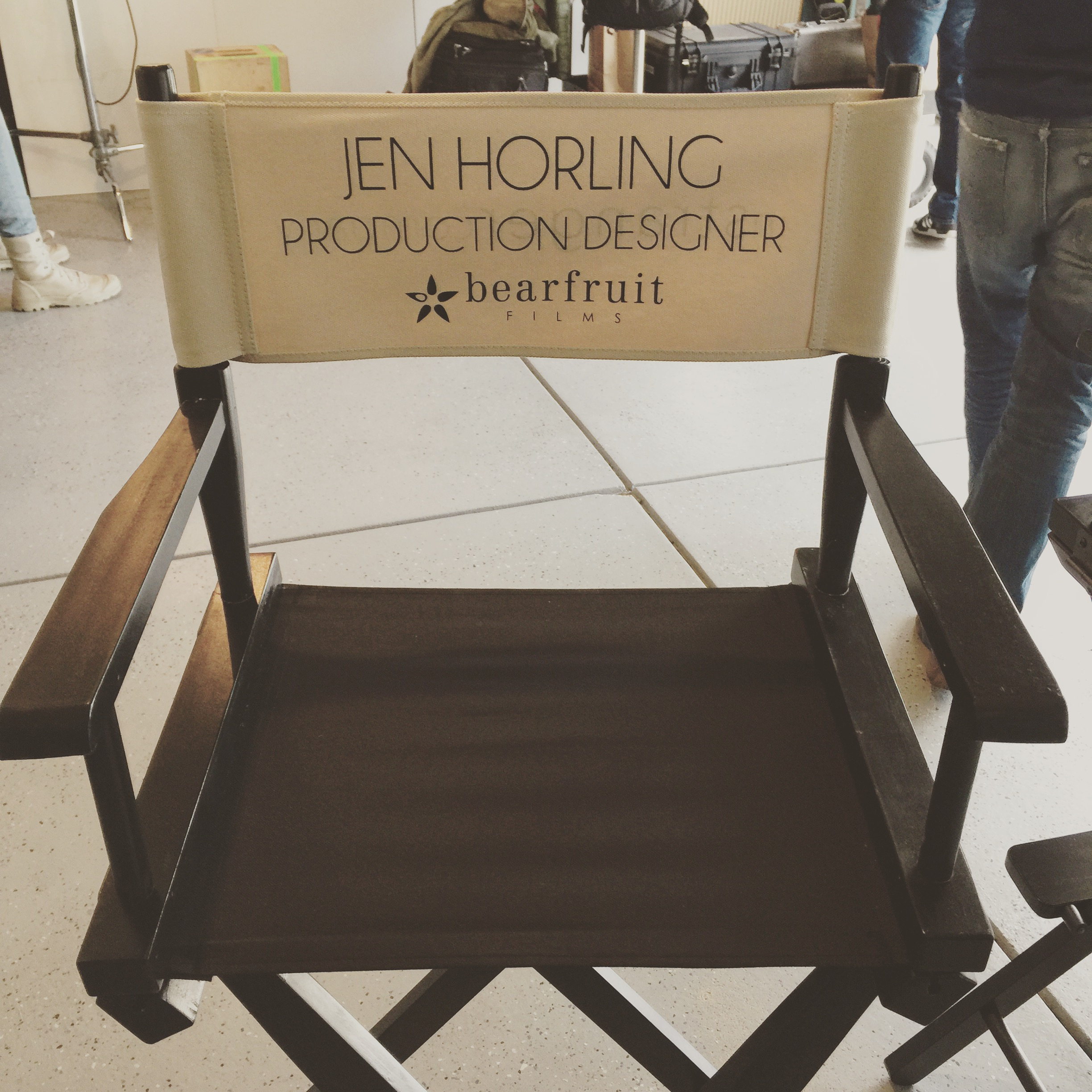 Jen Horling chair on set