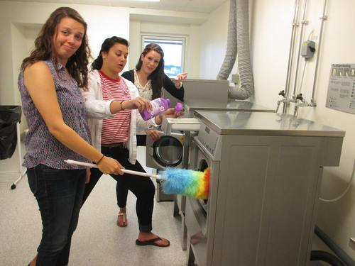 students learn how to do laundry in Sweden