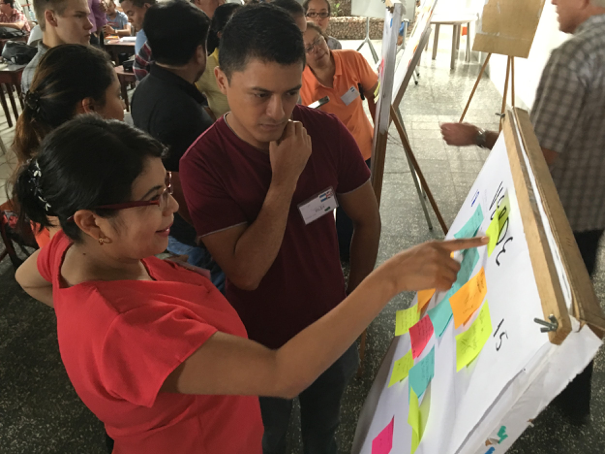 Nicaraguan participants in the KCAD-led workshop