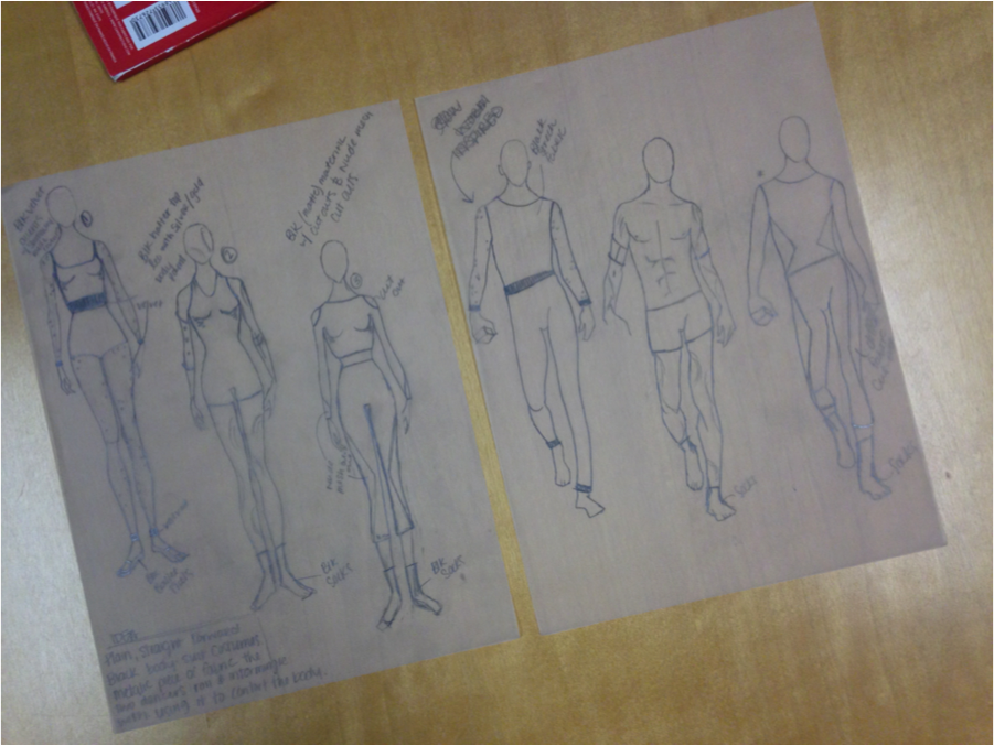 design sketches by student Alexis Troxell