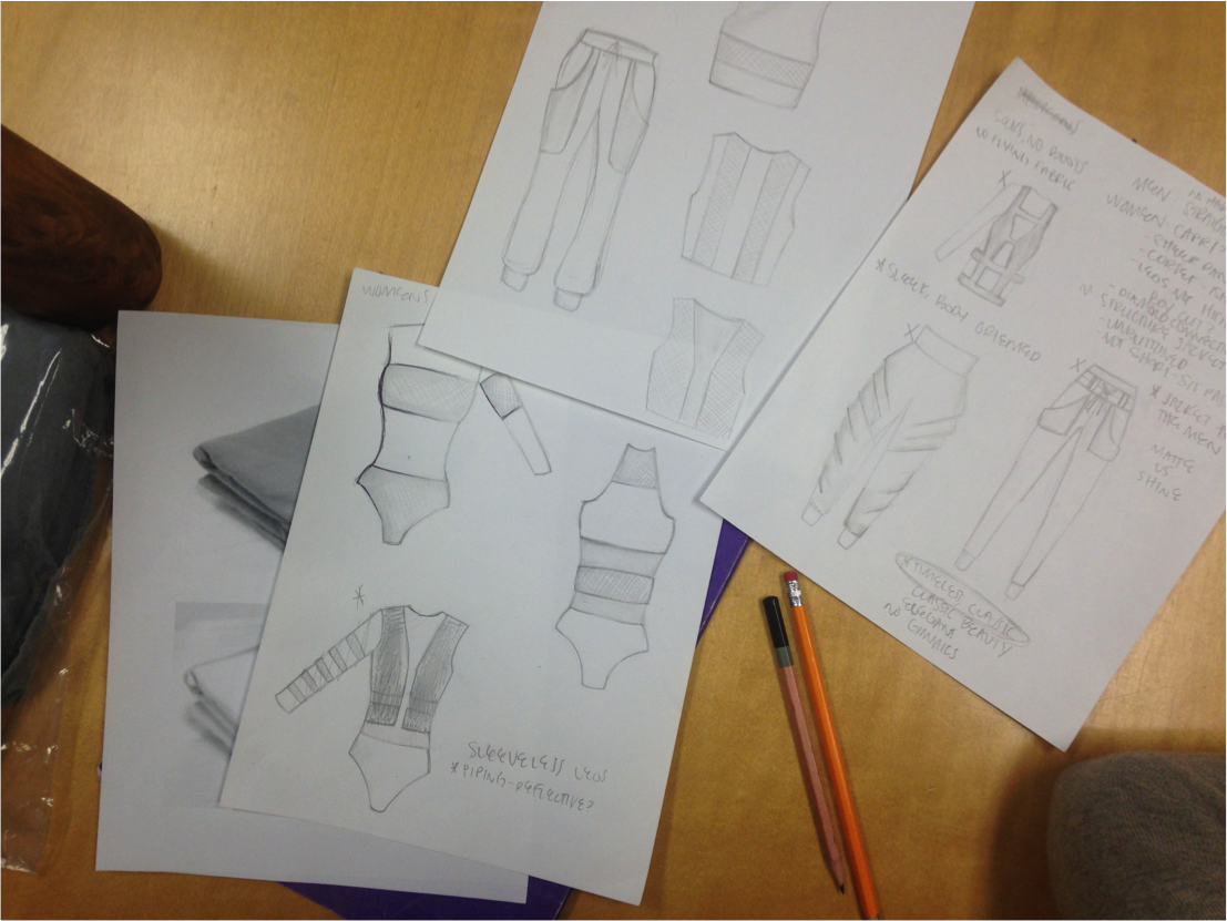 design sketches by student Audrey Langejans