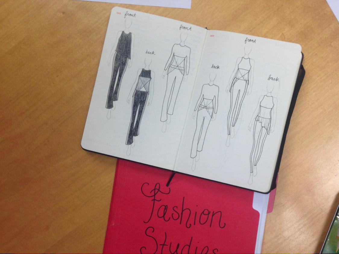 design sketches by student Lauren Talsma