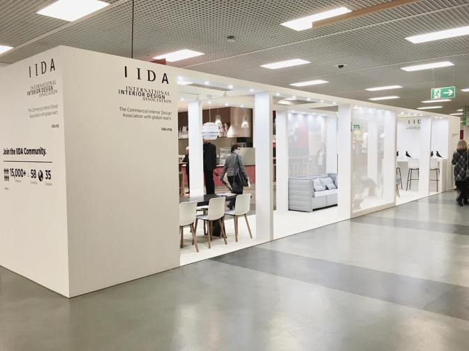 IIDA Booth Designed By Interior Design Student Kelsey Ballast