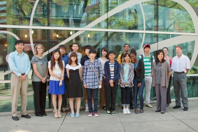 Kendall international students with faculty and staff advisors