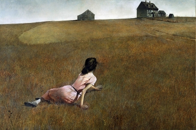 Painting of a girl in a field by Anna Vanderjagt
