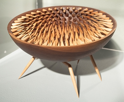An interestingly spiked bowl, designed by Rebecca DeGroot