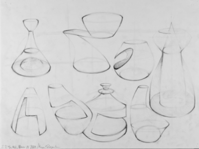sketch of geometric forms