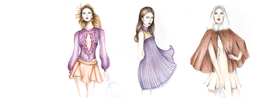 Fashion Illustrations by student Joanna Bronicki