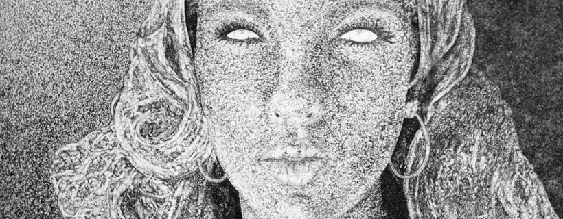 Stipple Portrait by Art Education Student Lynette Robinson