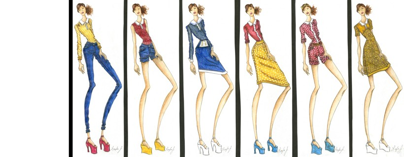 Fashion Illustrations by student Layla Jones