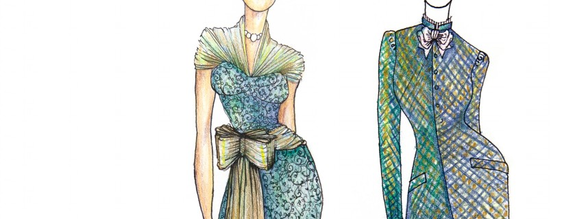 Fashion Illustrations by student Claire Longenecker