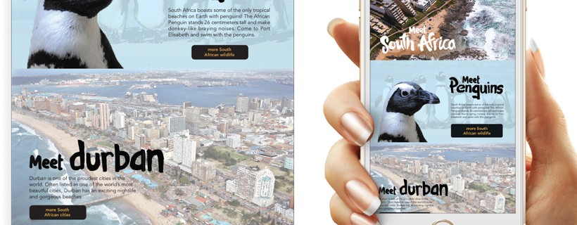 South African tourism ad campaign concept presented using phone