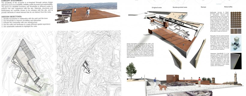 montage of architectural renderings and sketches