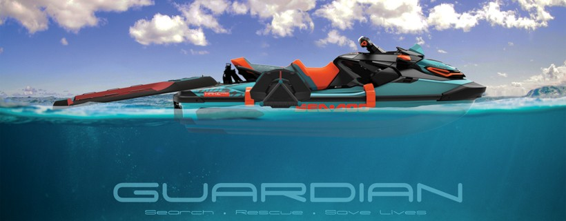 renderings of rescue jetski and accessories