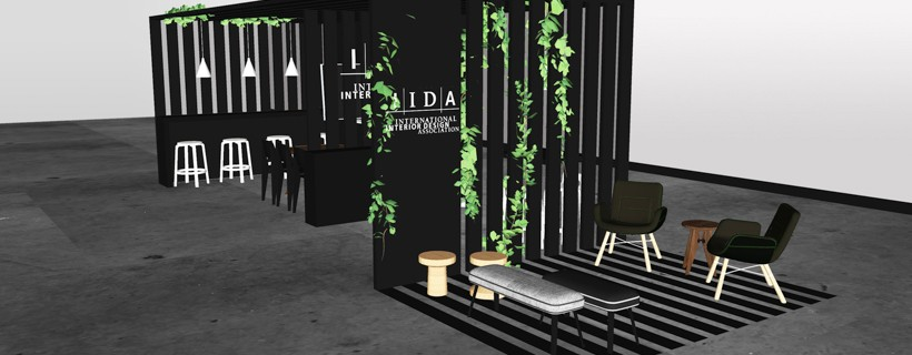 digital rendering of interior design trade booth