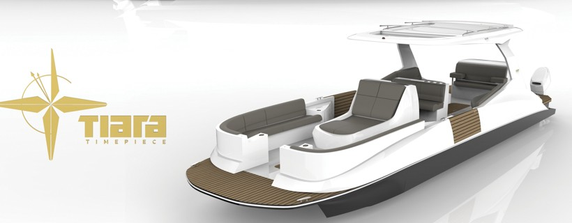 Design layout for elegant pontoon boat