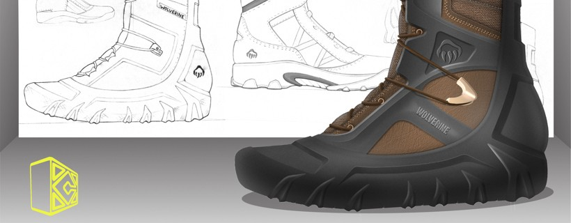 shoe rendering and sketches