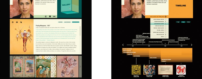 Two screenshots of websites that feature information about art and artists