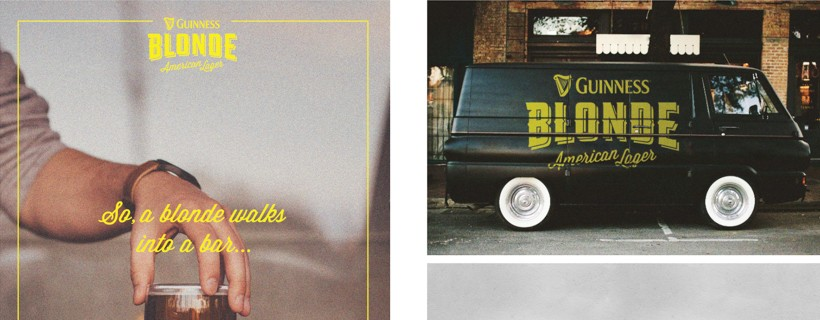 Three photos different ad concepts featuring a black van and a hand holding a glass of liquid