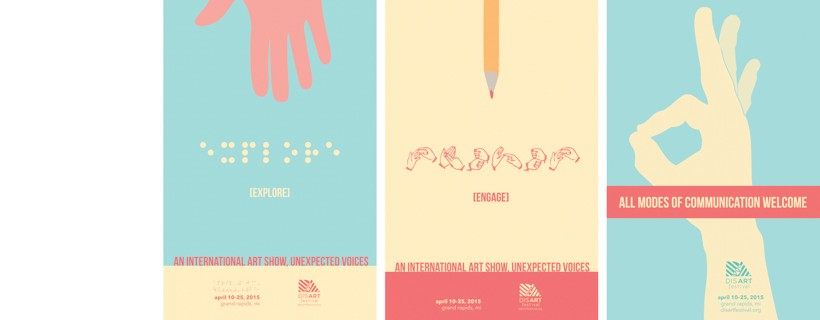 Student posters for DisArt Festival