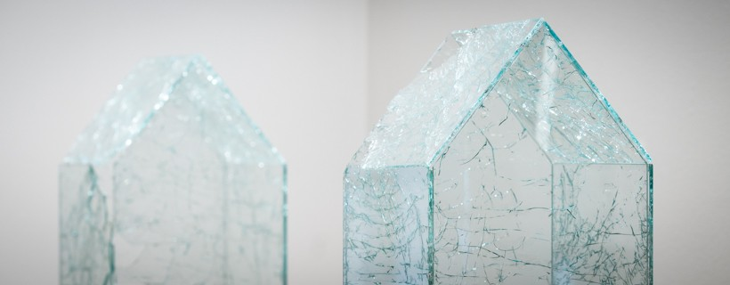 Tiny houses constructed from glass