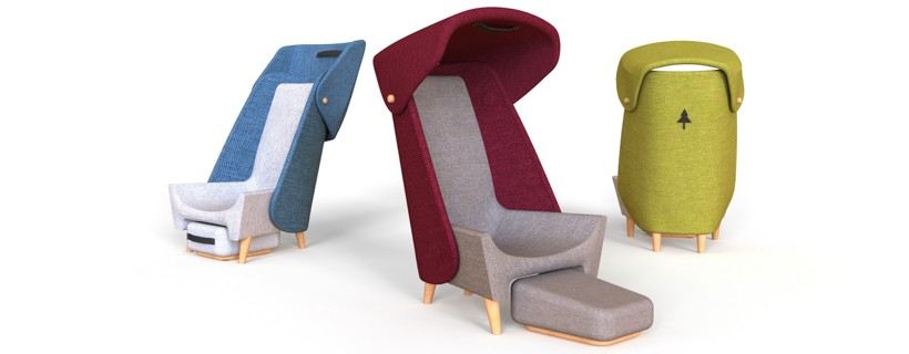 digital rendering of 3 chairs