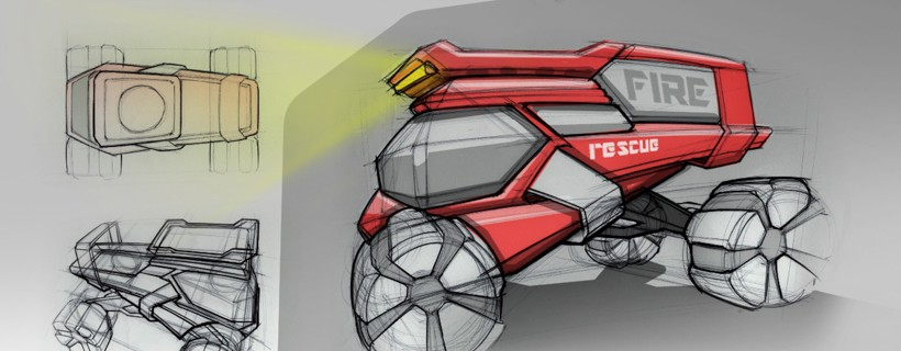 sketches of off road vehicle