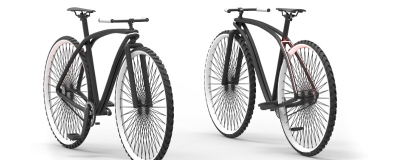 Two computer rendered bike designs