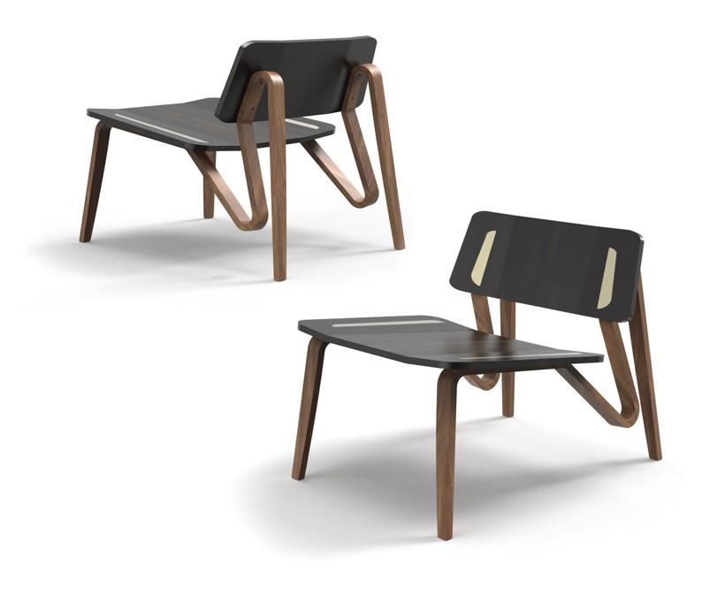 Dark Wood Chair With Lighter Wood Frame. Eric Schroeder   Furniture Design