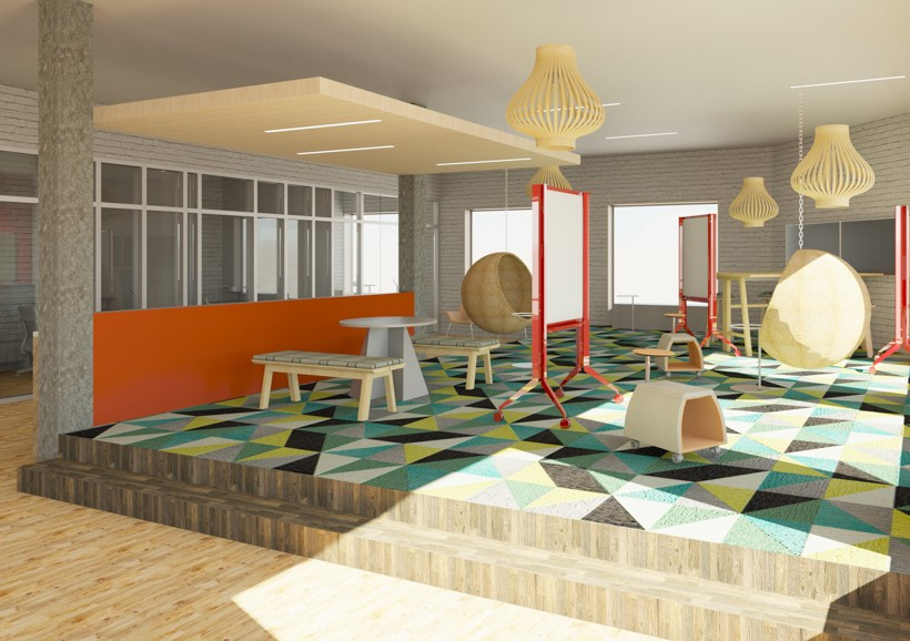 Elevated Conference Area With Mobile White Boards